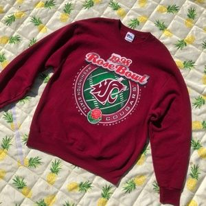 VTG WSU Cougs 1998 Rose Bowl Crewneck Maroon Sz L